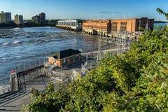 Barrage hydraulique du Québec Electircal Photo libre de droits