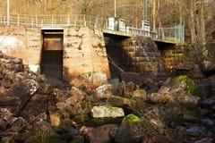 Barrage hydro-électrique photo stock