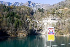 The barrage lake of Palagnedra on Centovalli valley Royalty Free Stock Photography