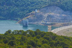 Barrage in the middle of the forest. A barrage in the forest of Jijel, Algeria royalty free stock image