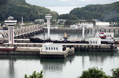 Barrage occidental de mer de Nampo Photos libres de droits