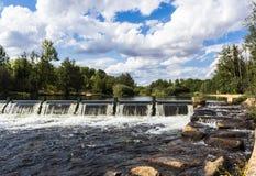 Barrage sur le fleuve Photo libre de droits