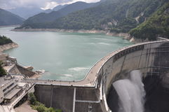 Barrage Toyama de Kurobe Images libres de droits