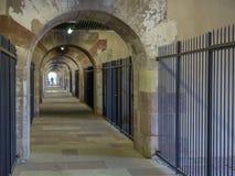 Barrage Vauban in Strasbourg. Walk way door arch in Barrage Vauban, Strasbourg, France stock image