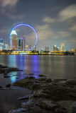 Barrage view of Singapore Flyer Royalty Free Stock Photography