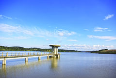 Barrage of Vigia lake, Portugal. Stock Image