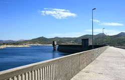 Barragem do Alto Rabagao in the north of Portugal Stock Image