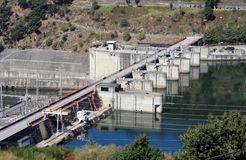 Barragem do Carrapatelo in Portuguese Douro river Royalty Free Stock Photography