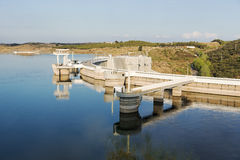 Barragem fa Alqueva Fotografie Stock Libere da Diritti