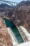 Barragem Hoover igualmente conhecida como a represa de Boulder, na garganta preta do Rio Colorado, na beira entre Nevada e Arizon foto de stock royalty free