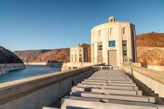 Barragem Hoover no Estados Unidos Central elétrica hidroelétrico em Ariz Imagem de Stock
