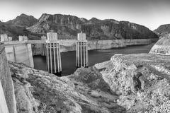 Barragem Hoover no Estados Unidos Central elétrica hidroelétrico em Ariz Fotografia de Stock Royalty Free