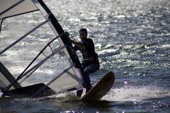 Barragem windsurfer Royalty Free Stock Photos