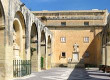 Barrakka-Gärten in Valletta, Malta lizenzfreie stockbilder
