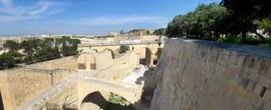 Barrakka Gardens in Valletta, Malta. Architecture of the landmark Upper Barrakka Gardens in Valletta, Malta Stock Images