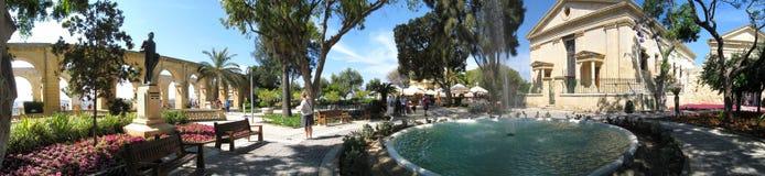 Barrakka Gardens in Valletta, Malta. Architecture of the landmark Upper Barrakka Gardens in Valletta, Malta Stock Photo