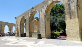 Barrakka Gardens in Valletta, Malta. Architecture of the landmark Upper Barrakka Gardens in Valletta, Malta Stock Image
