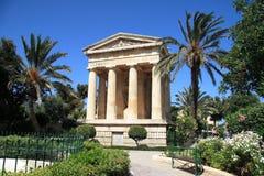 barrakka ogrodowy Malta wierzch Valletta Obrazy Royalty Free