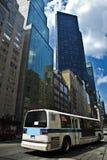 Barramento de New York City imagem de stock royalty free