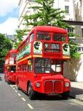 Barramento de ponte dobro vermelho de Londres Fotos de Stock Royalty Free
