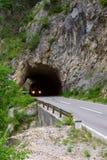 Barramento em um túnel Imagem de Stock Royalty Free