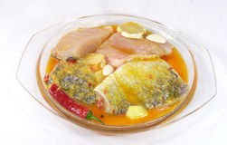 Barramundi meal royalty free stock photos