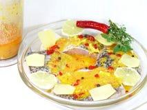 Barramundi meal Stock Photo