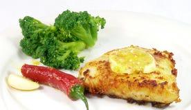 Barramundi meal Stock Image
