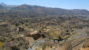 Barranca 2 de Colca Foto de archivo libre de regalías