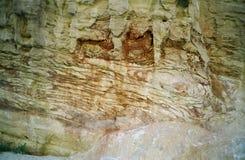 Barranca coloreada. Sinaí, Egipto   imagen de archivo libre de regalías