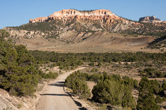 Barranca de Bryce de la carretera nacional Foto de archivo libre de regalías