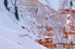 Barranca de Bryce en invierno fotografía de archivo