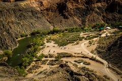 Barranca de Charyn Imagen de archivo