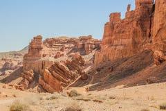 Barranca de Charyn en Kazakhstan El valle de castillos Fotos de archivo