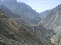 Barranca de Colca Foto de archivo libre de regalías