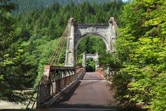 Barranca de Fraser, puente histórico de Alexandra, británico Imágenes de archivo libres de regalías