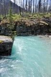 Barranca de mármol en el parque nacional de Kootenay (Canadá) Fotografía de archivo
