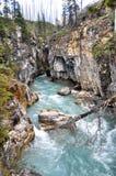 Barranca de mármol en el parque nacional de Kootenay (Canadá) Fotos de archivo libres de regalías