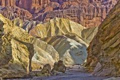 Barranca de oro Death Valley Imágenes de archivo libres de regalías