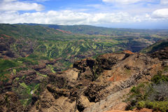 Barranca de Waimea en Kauai Imagenes de archivo