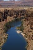 Barranca del río de Colorado en Arizona norteño Fotos de archivo libres de regalías