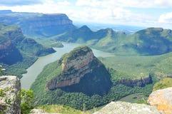 Barranca del río de Blyde, Suráfrica Imagen de archivo libre de regalías