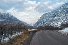 Barranca en invierno fotografía de archivo