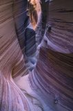 Barranca estrecha de la ranura, monumento magnífico de Escalante de la escalera, Utah Foto de archivo libre de regalías
