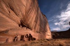 Barranca histórica mágica en pista de Navajo Fotografía de archivo