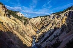 Barranca magnífica de Yellowstone Fotografía de archivo