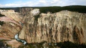 Barranca magnífica del parque nacional de piedra amarillo Imagen de archivo