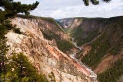 Barranca magnífica del Yellowstone Foto de archivo libre de regalías