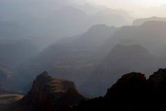 Barranca magnífica en la puesta del sol Imágenes de archivo libres de regalías