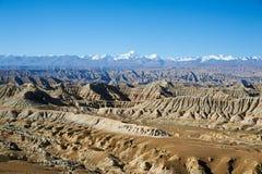 Barranca magnífica en Tíbet Fotos de archivo
